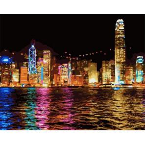 Ночной Гонконг Раскраска по номерам на холсте Z-GX7256