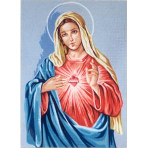 Доброе сердце Девы Марии Канва жесткая с рисунком для вышивки Gobelin L