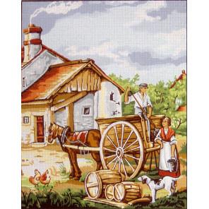 Сельские будни Канва жесткая с рисунком для вышивки Gobelin L