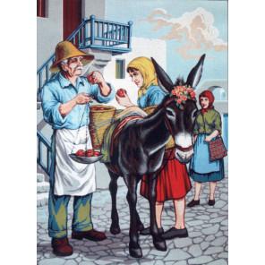 Ослик Канва жесткая с рисунком для вышивки Gobelin L