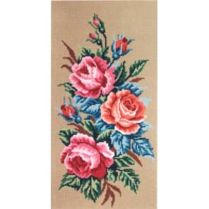 Розы Канва жесткая с рисунком для вышивки Gobelin L