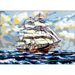 На всех парусах Канва жесткая с рисунком для вышивки Gobelin L