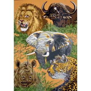 Животные Африки Канва жесткая с рисунком для вышивки Gobelin L