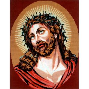 Господь в терновом венце Канва жесткая с рисунком для вышивки Gobelin L