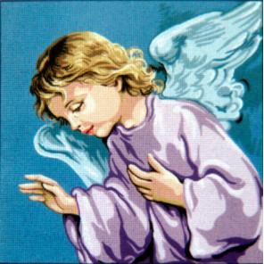 Спящий Ангел Хранитель Канва жесткая с рисунком для вышивки Gobelin L
