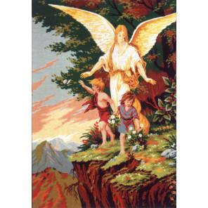 Ангел - Хранитель Канва жесткая с рисунком для вышивки Gobelin L