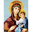 Дева Мария с младенцем Канва жесткая с рисунком для вышивки Gobelin L