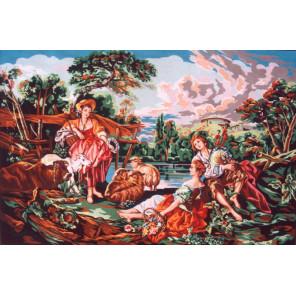 Прекрасные пастушки Канва жесткая с рисунком для вышивки Gobelin L