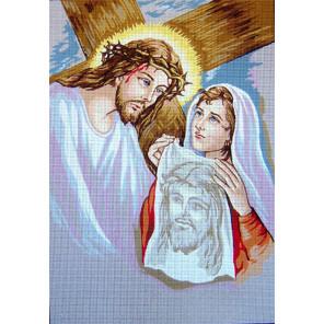 Святой Крест Канва жесткая с рисунком для вышивки Gobelin L