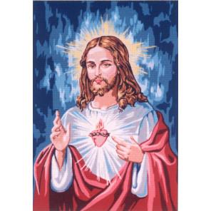 Сердце Господа Канва жесткая с рисунком для вышивки Gobelin L