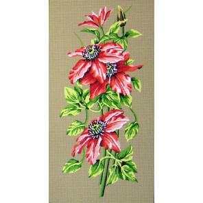 Пуансеттия Канва жесткая с рисунком для вышивки Gobelin L