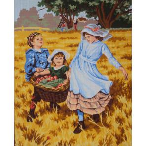 Сбор урожая Канва жесткая с рисунком для вышивки Gobelin L