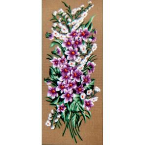Сиреневые цветочки Канва жесткая с рисунком для вышивки Gobelin L