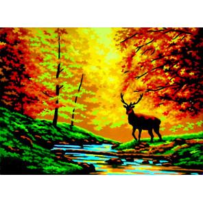 Время года осень Канва жесткая с рисунком для вышивки Gobelin L