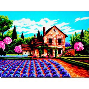 Время года весна Канва жесткая с рисунком для вышивки Gobelin L