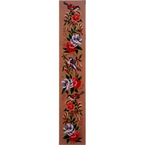 Анемоны и птички Канва жесткая с рисунком для вышивки Gobelin L