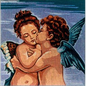 Ангельский поцелуй Канва жесткая с рисунком для вышивки Gobelin L