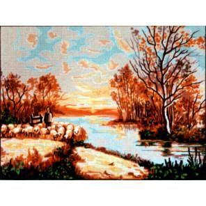 Осень Канва жесткая с рисунком для вышивки Gobelin L
