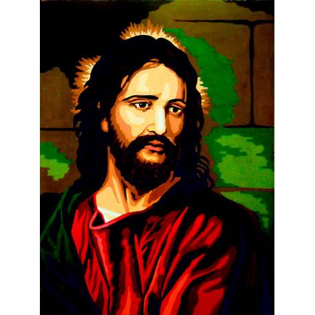 Иисус Канва жесткая с рисунком для вышивки Gobelin L