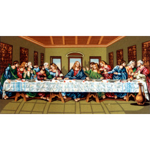 Тайная Вечеря, мини Канва жесткая с рисунком для вышивки Gobelin L