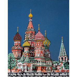Собор Василия Блаженного Канва жесткая с рисунком для вышивки Gobelin L