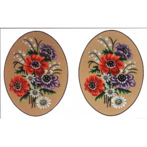 Букет, 2 картинки Канва жесткая с рисунком для вышивки Gobelin L