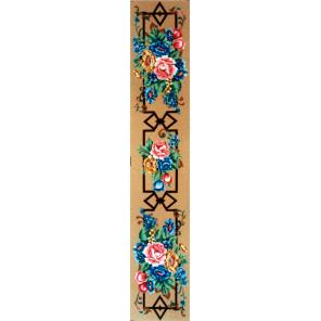 Цветы на орнаменте Канва жесткая с рисунком для вышивки Gobelin L