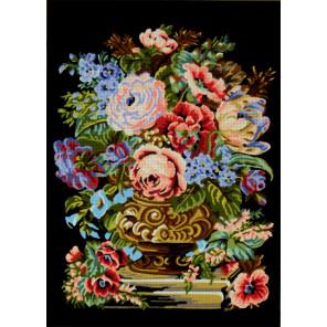 Пионы в вазе Канва жесткая с рисунком для вышивки Gobelin L