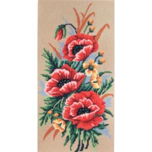 Маки Канва жесткая с рисунком для вышивки Gobelin L