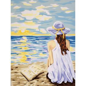 Мечты у моря Канва жесткая с рисунком для вышивки Gobelin L