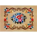 Панно с цветами Канва жесткая с рисунком для вышивки Gobelin L