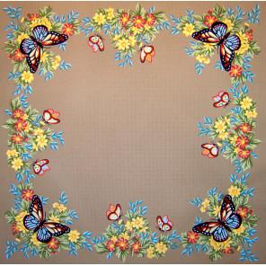 Бабочки Канва жесткая с рисунком для вышивки Gobelin L