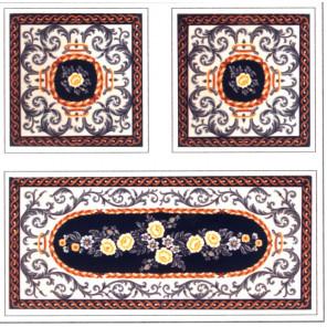 Дорожка с орнаментом + подушка Канва жесткая с рисунком для вышивки Gobelin L