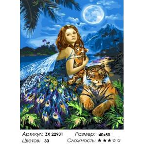 Сложность и количество цветов Фея в джунглях Раскраска картина по номерам на холсте ZX 22931
