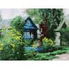 Домик в деревне Раскраска картина по номерам на картоне Белоснежка 3091-CS