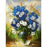 Ромашки и васильки Раскраска картина по номерам на картоне Белоснежка 3143-CS