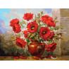 Маки Раскраска картина по номерам на картоне Белоснежка 3145-CS