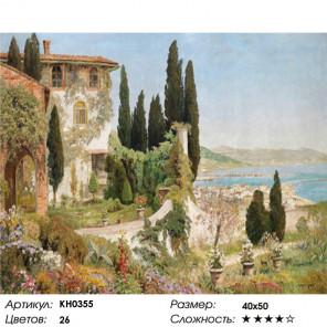 Сложность и количество цветов Франция Раскраска картина по номерам на холсте KH0355