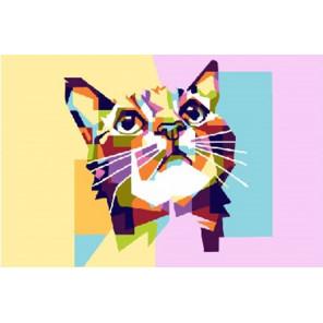 Кошкин взгляд Раскраска картина по номерам на холсте PKD18012