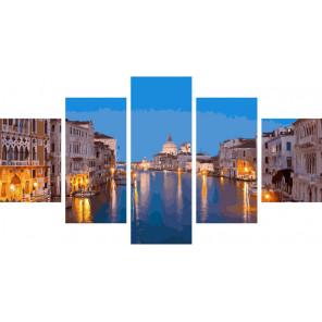 Венецианская идиллия Модульная картина по номерам на холсте с подрамником WX1064