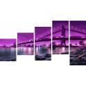 Бруклинский мост Модульная картина по номерам на холсте с подрамником WX1062