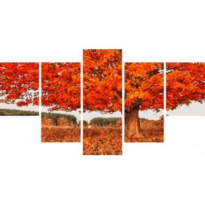 Осень Модульная картина по номерам на холсте с подрамником WX1031