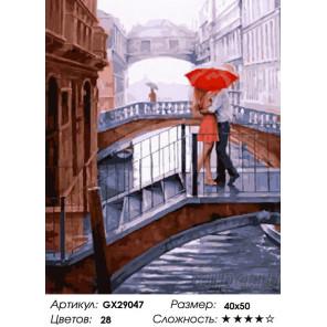 Сложность и количество цветов Романтика мостов Раскраска картина по номерам на холсте GX29047