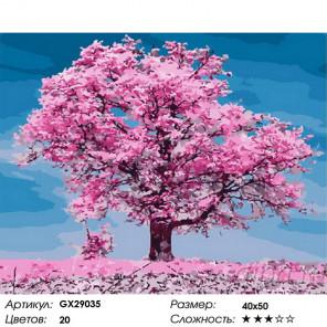 Розовые лепестки Раскраска картина по номерам на холсте GX29035