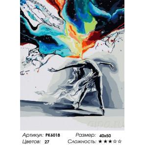 Сложность и количество цветов Всплеск чувств Раскраска картина по номерам на холсте PK6018