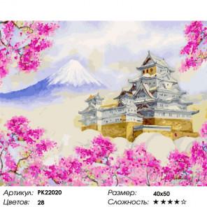 Сложность и количество цветов Замок Химедзи Раскраска картина по номерам на холсте PK22020