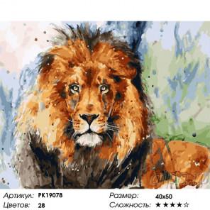 Сложность и количество цветов Хозяин саванны Раскраска картина по номерам на холсте PK19078