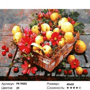 Сложность и количество цветов Щедрая осень Раскраска картина по номерам на холсте PK19052