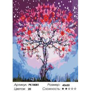 Сложность и количество цветов Волшебное дерево Раскраска картина по номерам на холсте PK18081