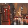 Дождливый Лондон Раскраска картина по номерам на холсте PK18052